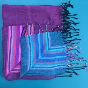 Accessories - Multi-colored Soft Woven Scarf